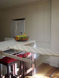 Custom Cabinetmaking Sydney: Pull out ironing board